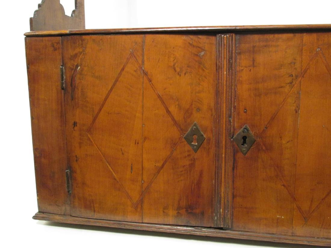 EARLY 19TH C CARVED CHERRYWOOD WALL SHELF - 4
