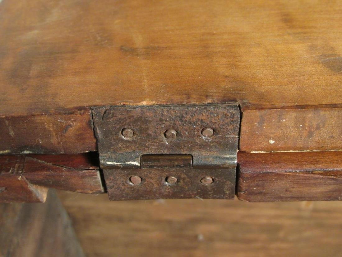 EARLY 19TH C CARVED CHERRYWOOD WALL SHELF - 6