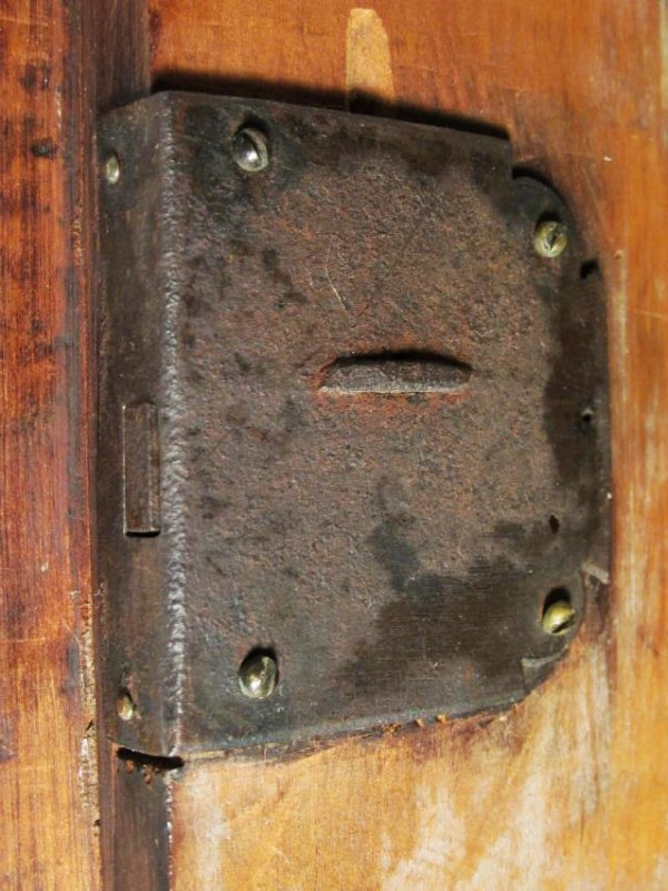 EARLY 19TH C CARVED CHERRYWOOD WALL SHELF - 8
