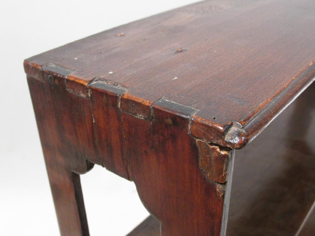 EARLY 19TH C CARVED CHERRYWOOD WALL SHELF - 9