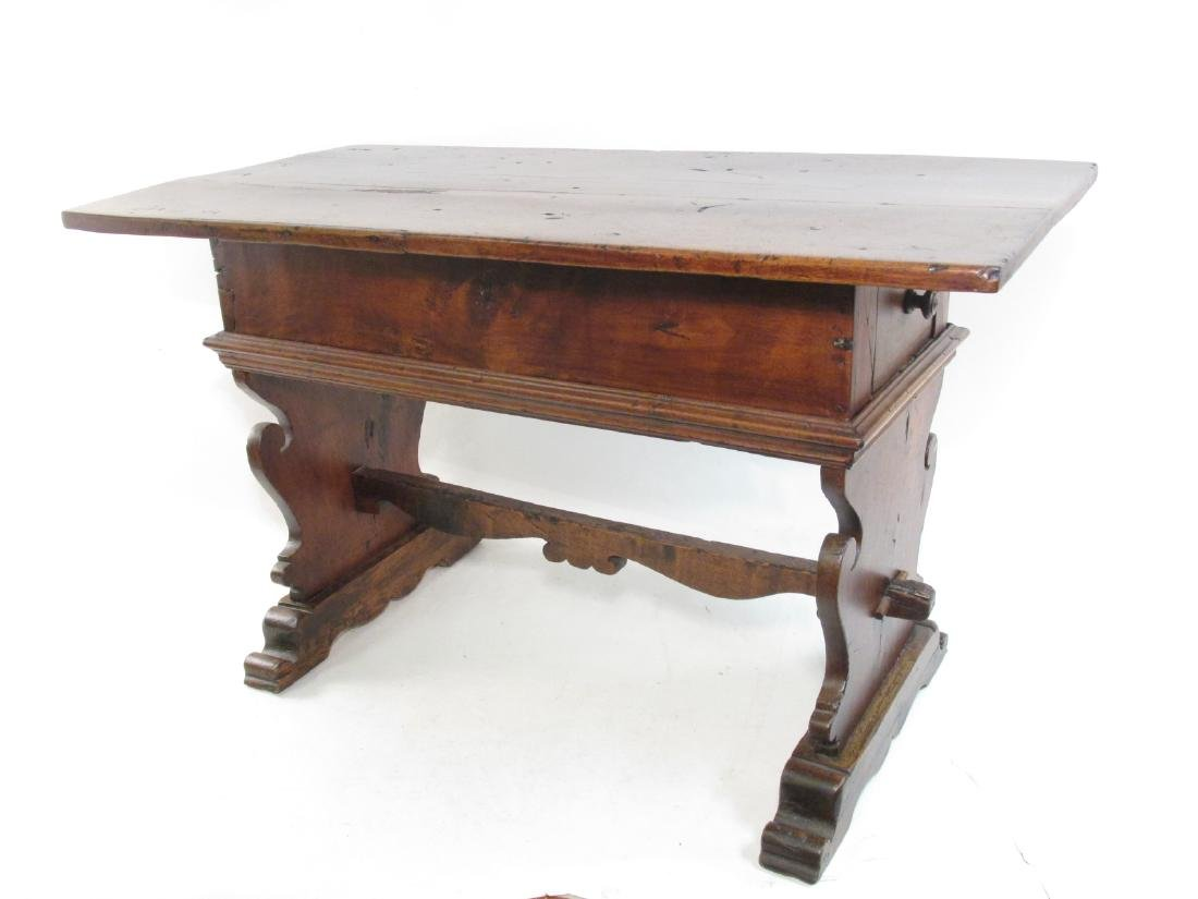 18TH CENTURY FRENCH MONASTERY TRESTLE TABLE