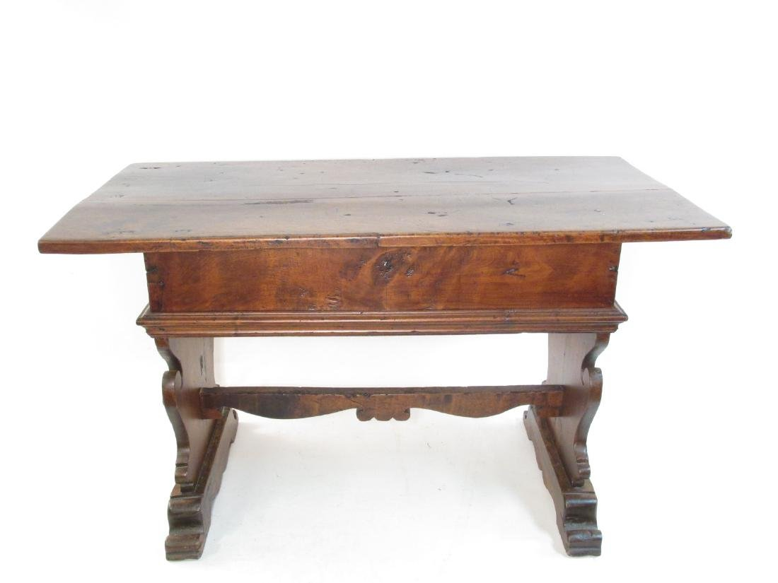 18TH CENTURY FRENCH MONASTERY TRESTLE TABLE - 2