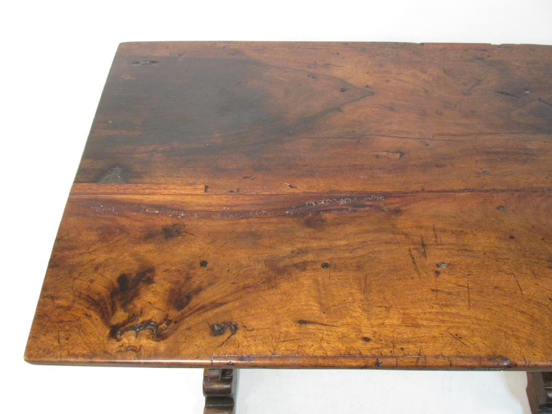 18TH CENTURY FRENCH MONASTERY TRESTLE TABLE - 7