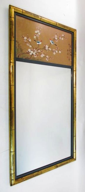 VINTAGE BAMBOO STYLE PIER MIRROR