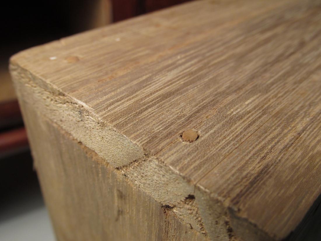 ANTIQUE JAPANESE BURLED ZELKOVA WOOD HIBACHI TABLE - 4