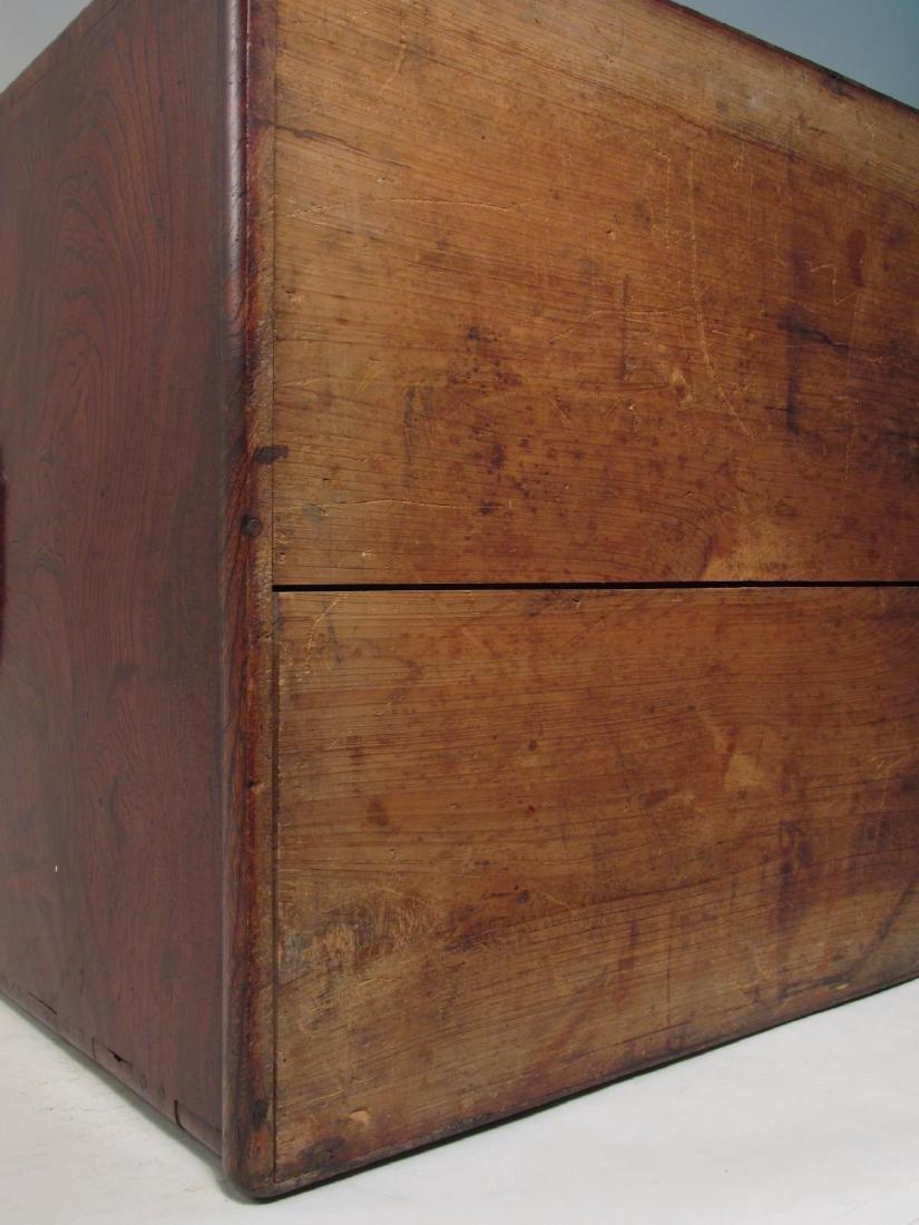 ANTIQUE JAPANESE BURLED ZELKOVA WOOD HIBACHI TABLE - 6