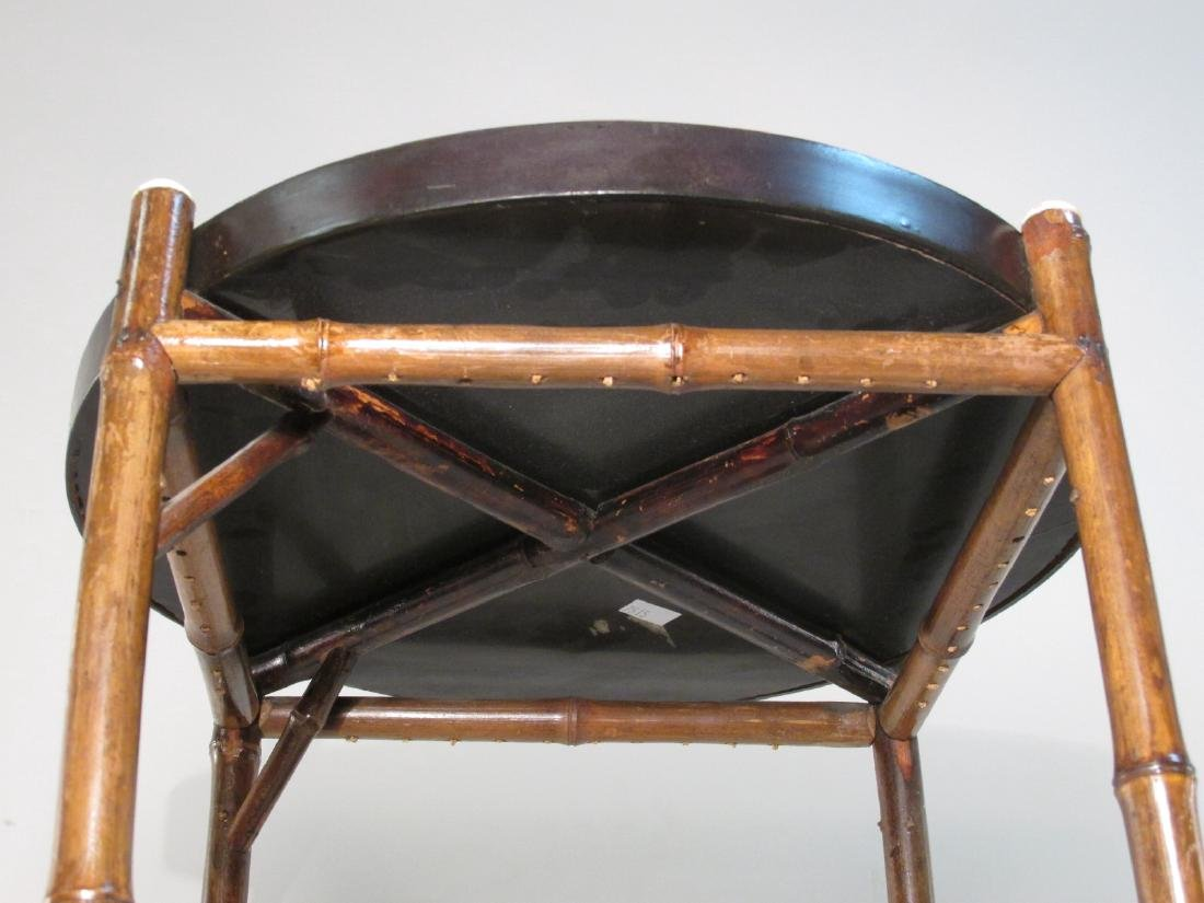 JAPANESE MEIJI BAMBOO & LACQUERWARE SIDE TABLE - 4