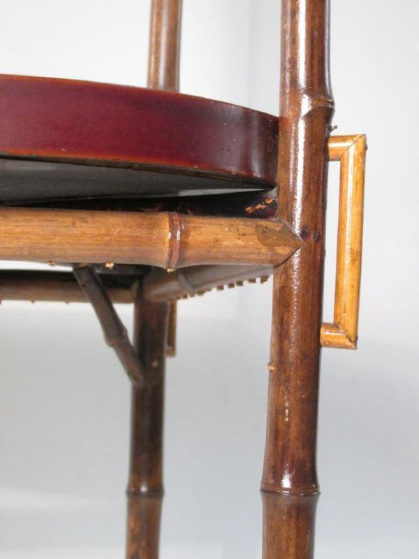 JAPANESE MEIJI BAMBOO & LACQUERWARE SIDE TABLE - 7