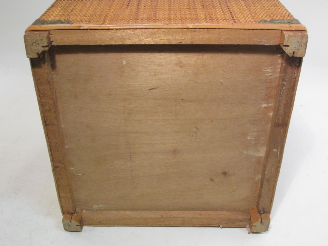 VINTAGE CHINESE RATTAN STORAGE BOX - 8