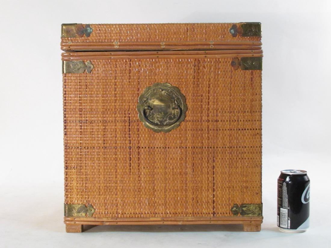 VINTAGE CHINESE RATTAN STORAGE BOX - 9