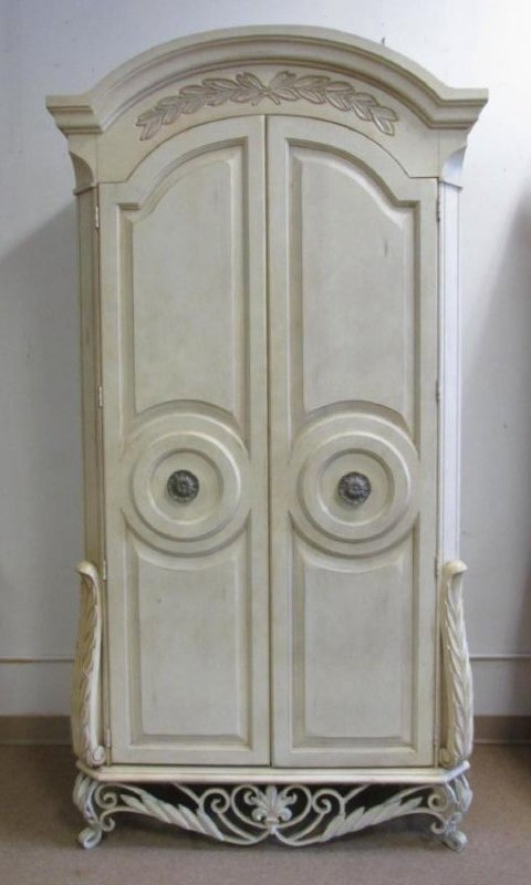 LARGE CREAM COLORED ARMOIRE