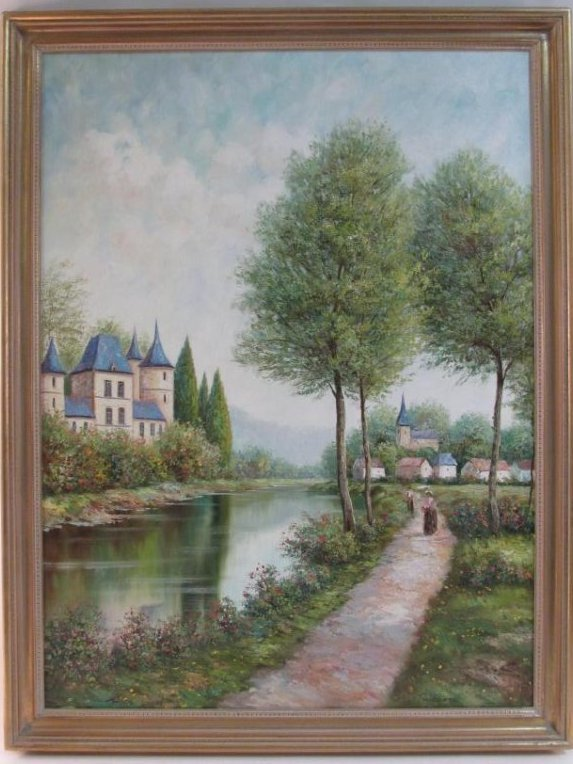 VINTAGE THEO RAUSCHER OIL ON CANVAS PAINTING