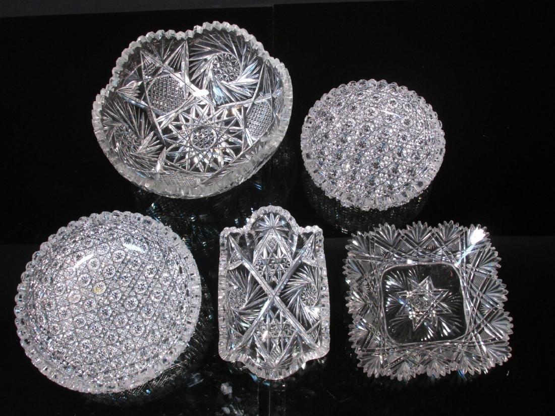 FIVE CRYSTAL TABLEWARES