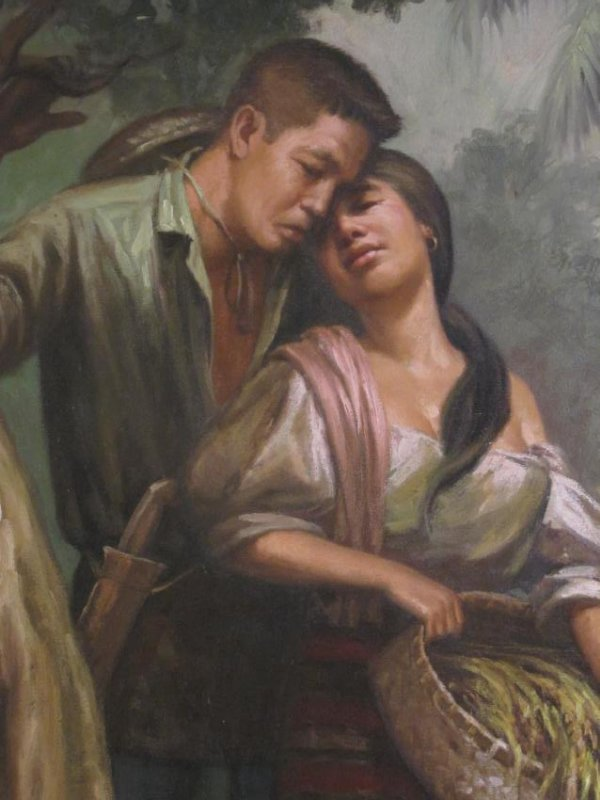 VINTAGE SIMON SAULOG PHILIPPINE OIL ON CANVAS PAINTING - 3