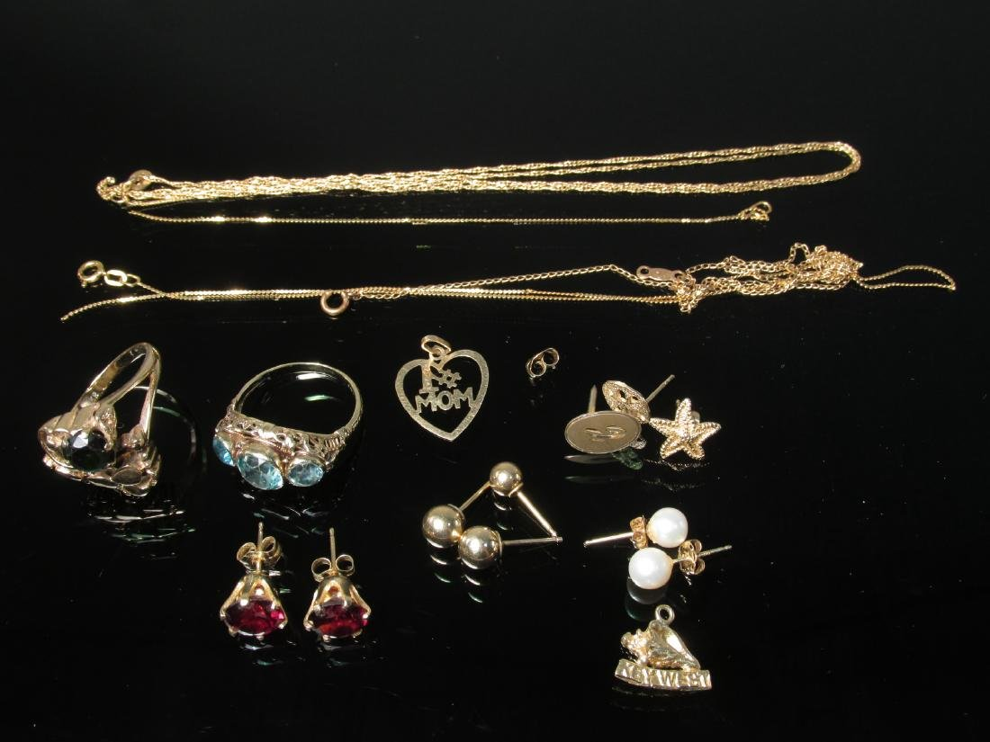 ASSORTED 14K YELLOW GOLD JEWELRY 19.3 GRAMS
