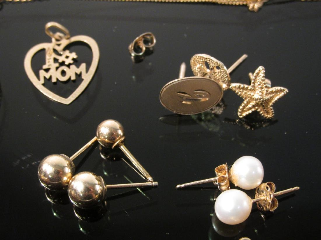 ASSORTED 14K YELLOW GOLD JEWELRY 19.3 GRAMS - 3