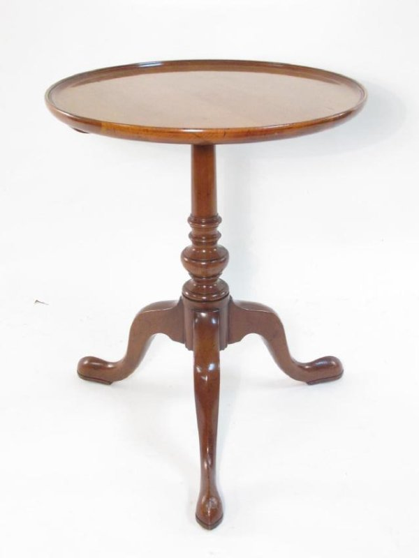 SMALL CHERRYWOOD QUEEN ANNE STYLE PEDESTAL TABLE