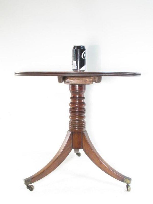 19TH CENTURY FEDERAL STYLE FLIP TOP TEA TABLE - 3