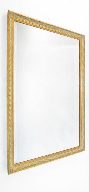 DECORATIVE FRAMED WALL MIRROR W/ BEVELED GLASS