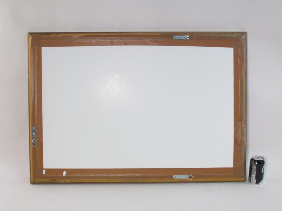 DECORATIVE FRAMED WALL MIRROR W/ BEVELED GLASS - 3