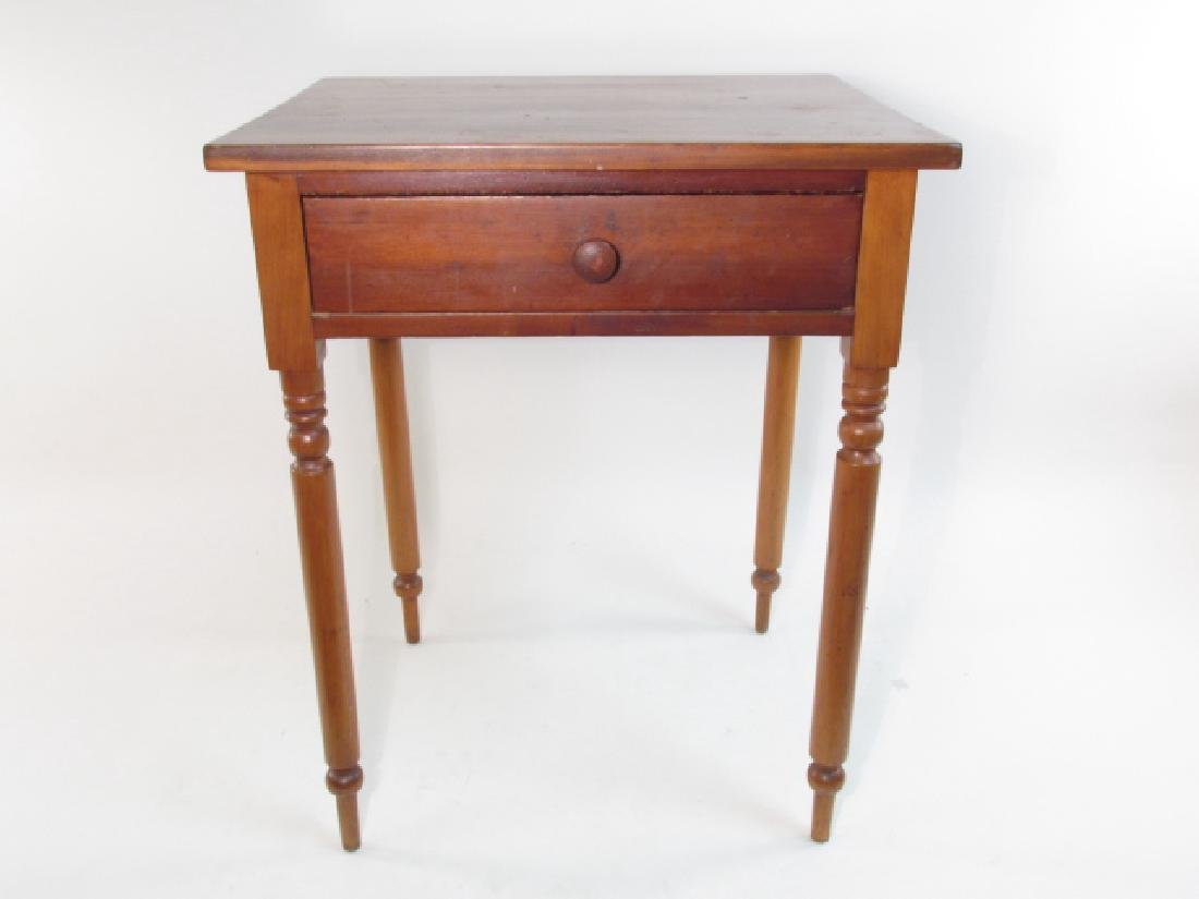 ANTIQUE CHERRYWOOD ONE DRAWER STAND