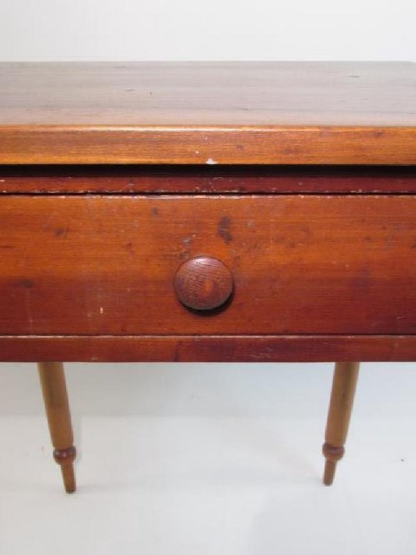 ANTIQUE CHERRYWOOD ONE DRAWER STAND - 2