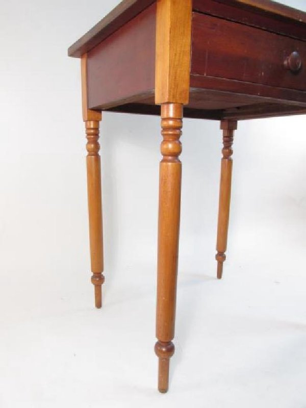 ANTIQUE CHERRYWOOD ONE DRAWER STAND - 3