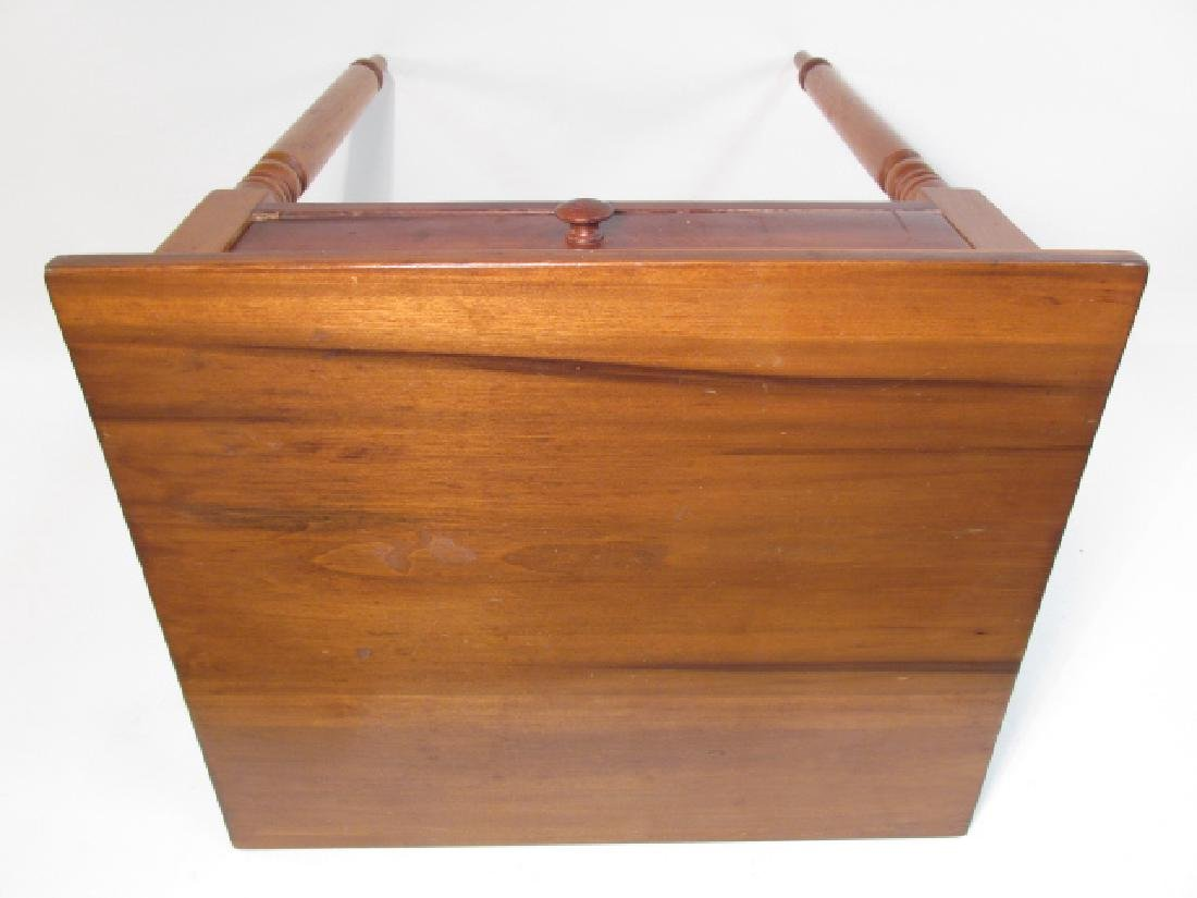 ANTIQUE CHERRYWOOD ONE DRAWER STAND - 5