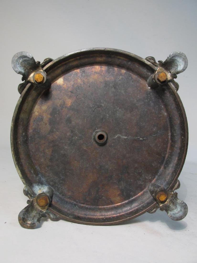 VINTAGE PATINATED METAL & ONYX ASHTRAY - 9