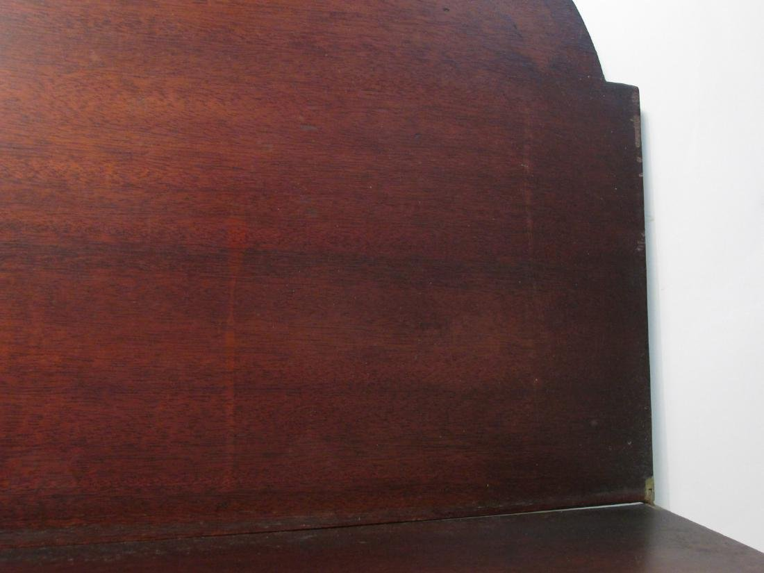 19TH C FEDERAL STYLE MARQUETRY INLAID FLIP TOP TAB - 10