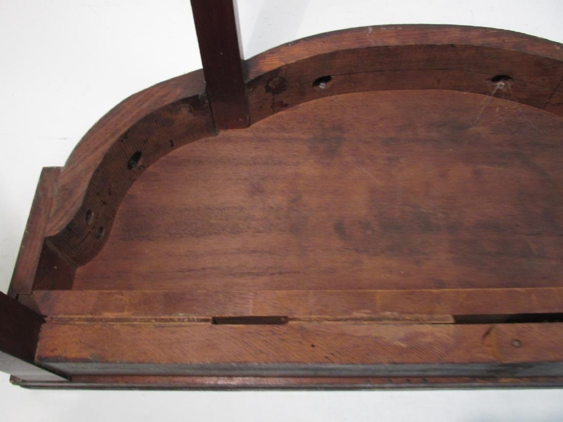 19TH C FEDERAL STYLE MARQUETRY INLAID FLIP TOP TAB - 8