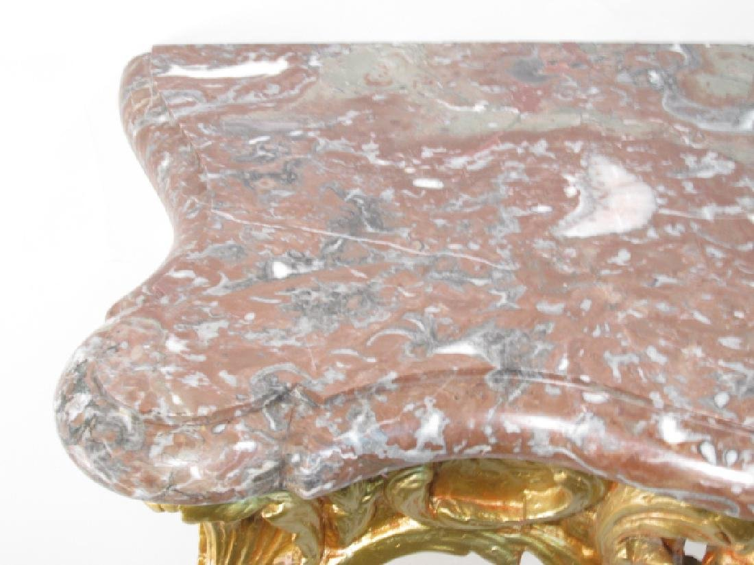 LOUIS XV GILTWOOD & MARBLE CONSOLE TABLE - 2