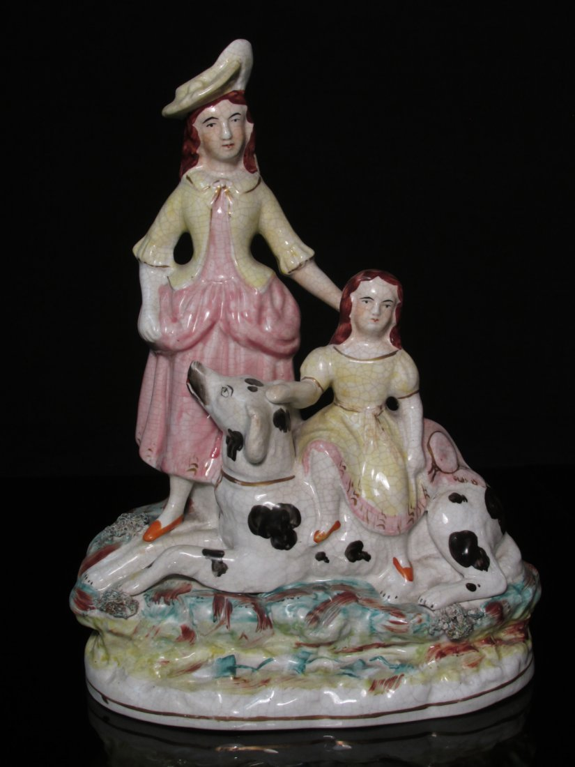 19TH C STAFFORDSHIRE PORCELAIN FIGURAL GROUP