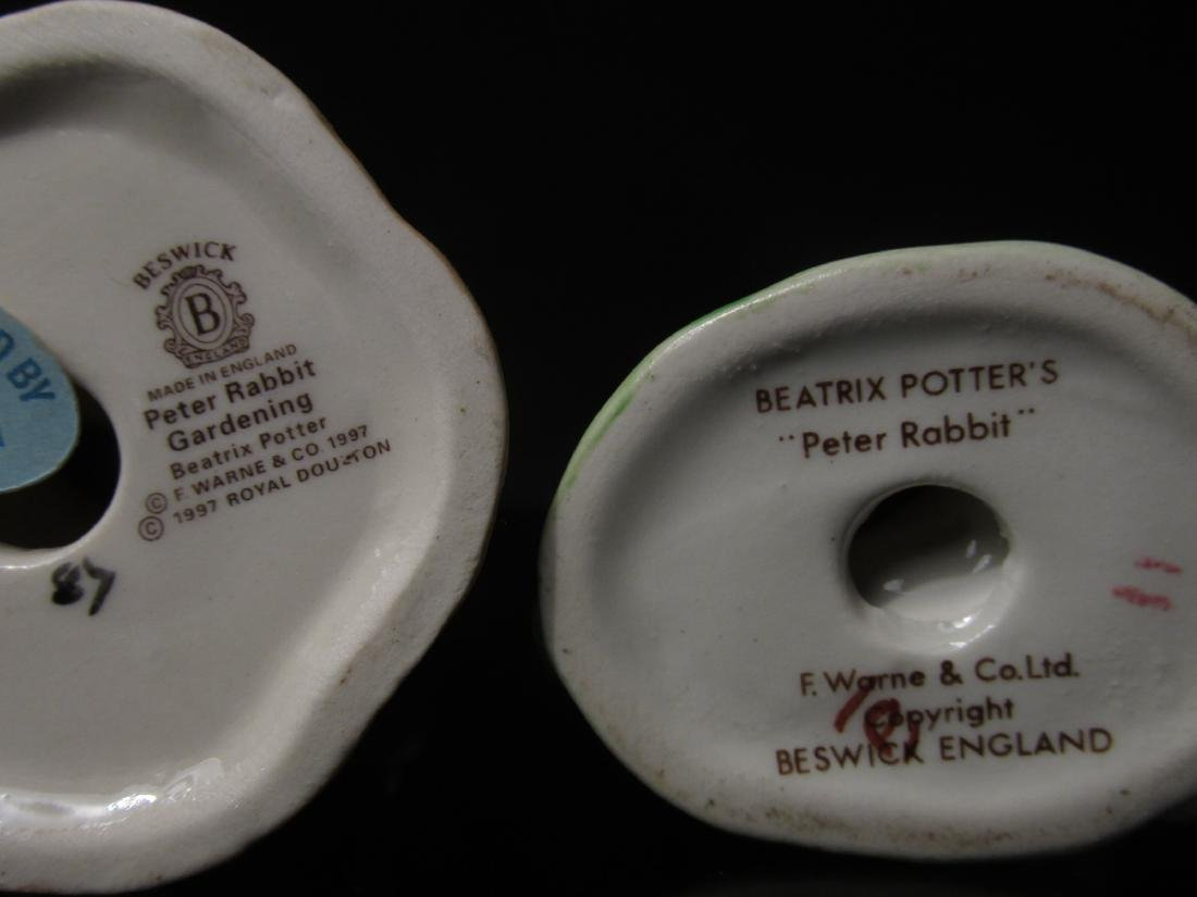 NINE BEATRIX POTTER PORCELAIN RABBIT FIGURINES - 3