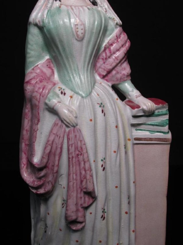 "19TH C STAFFORDSHIRE ""MISS NIGHTINGALE"" FIGURINE - 4"