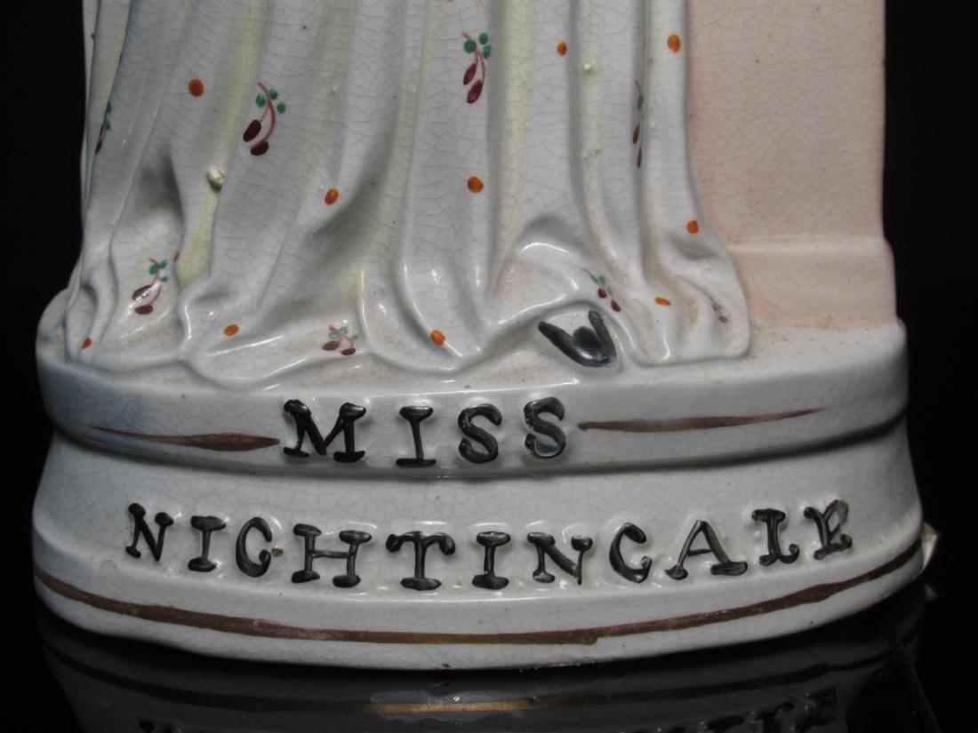 "19TH C STAFFORDSHIRE ""MISS NIGHTINGALE"" FIGURINE - 5"