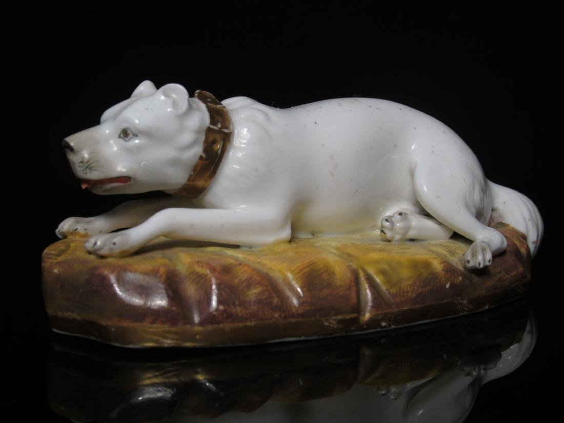 FOUR STAFFORDSHIRE PORCELAIN DOGS: ALCOCK - 4