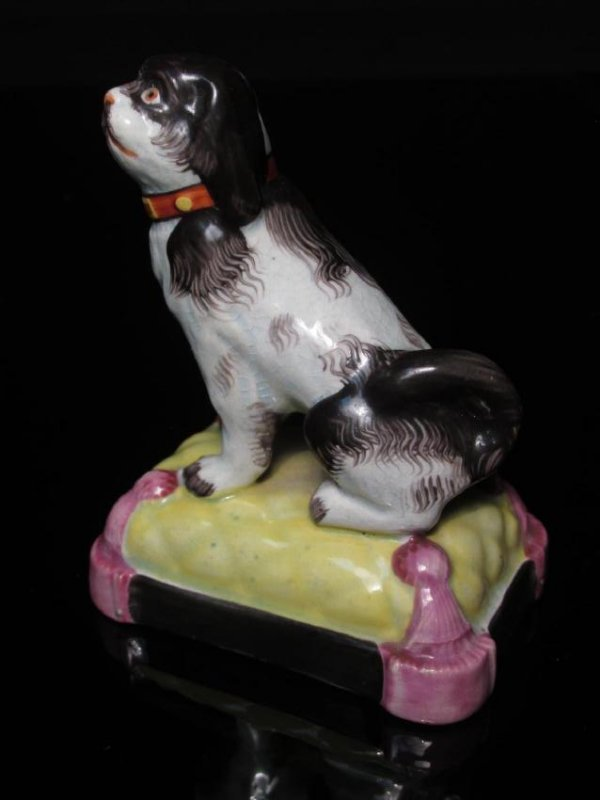 FOUR STAFFORDSHIRE PORCELAIN DOGS: ALCOCK - 6