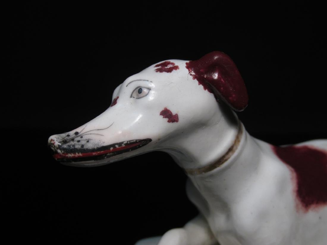 TWO STAFFORDSHIRE PORCELAIN FIGURINES: WHIPPETS - 3