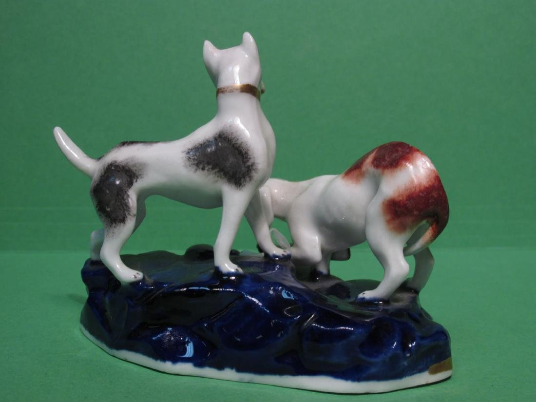 TWO 19TH C STAFFORDSHIRE DUDSON FIGURAL DOG GROUPS - 5