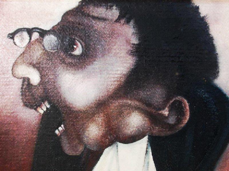 "LUCA LISCHETTI OIL ON CANVAS PAINTING:""GUIDICI"" - 3"