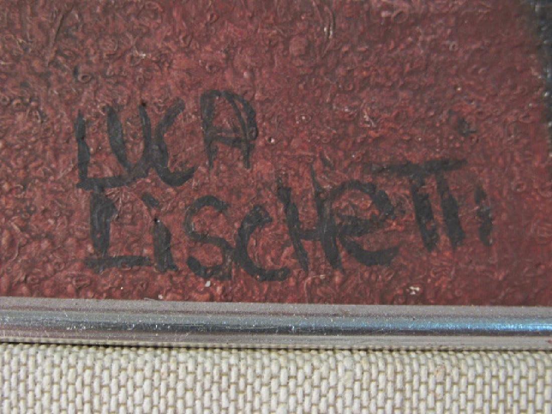 "LUCA LISCHETTI OIL ON CANVAS PAINTING:""GUIDICI"" - 5"