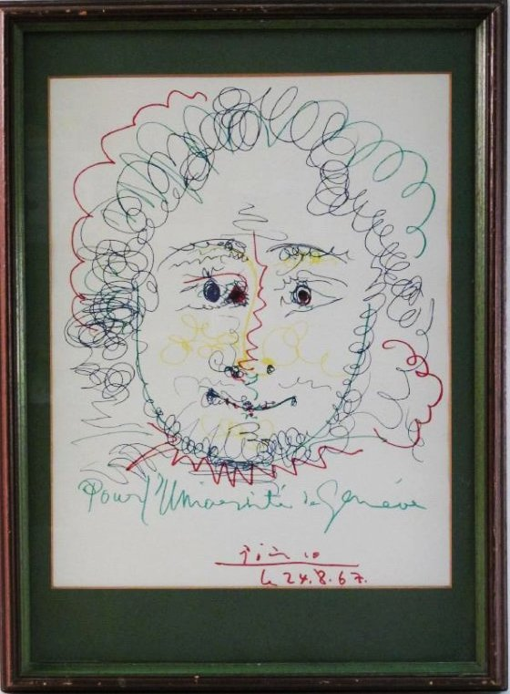 PICASSO EXHIBITION 1967 PORTRAIT LITHOGRAPH