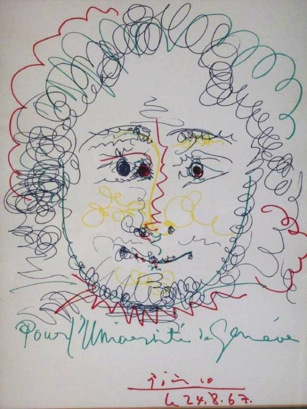 PICASSO EXHIBITION 1967 PORTRAIT LITHOGRAPH - 2