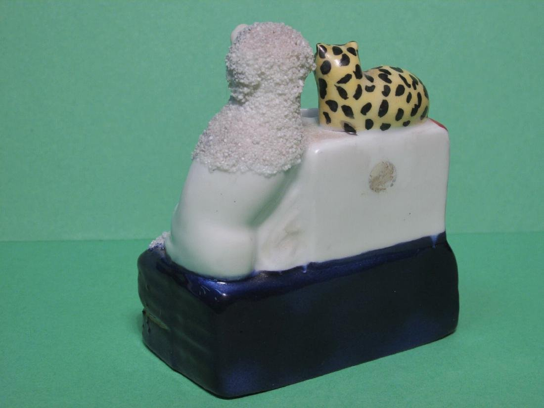 TWO MINIATURE STAFFORDSHIRE PORCELAIN INKWELLS - 10
