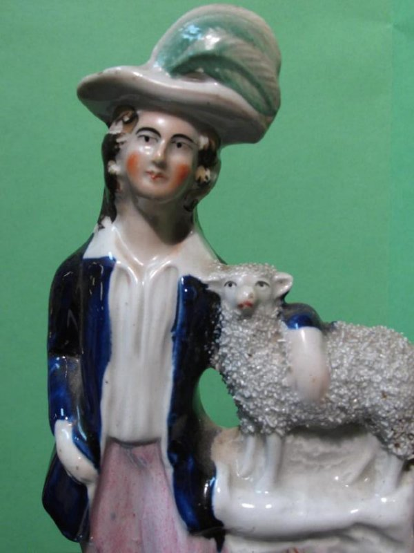 19TH C STAFFORDSHIRE PORCELAIN FIGURAL GROUP - 2