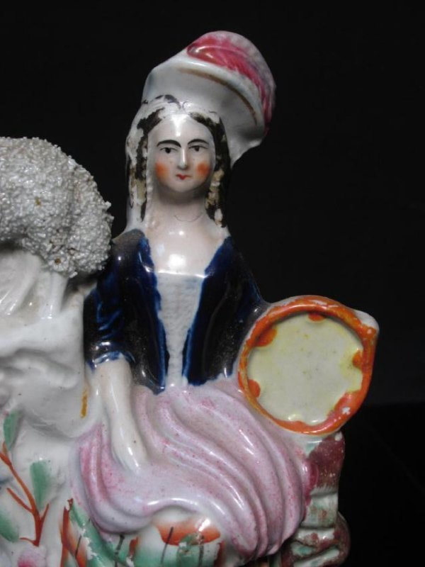19TH C STAFFORDSHIRE PORCELAIN FIGURAL GROUP - 3