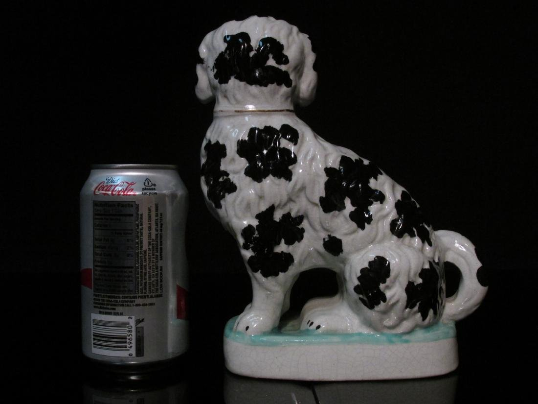 19TH C STAFFORDSHIRE SPANIEL w/ PIPE FIGURINE - 6