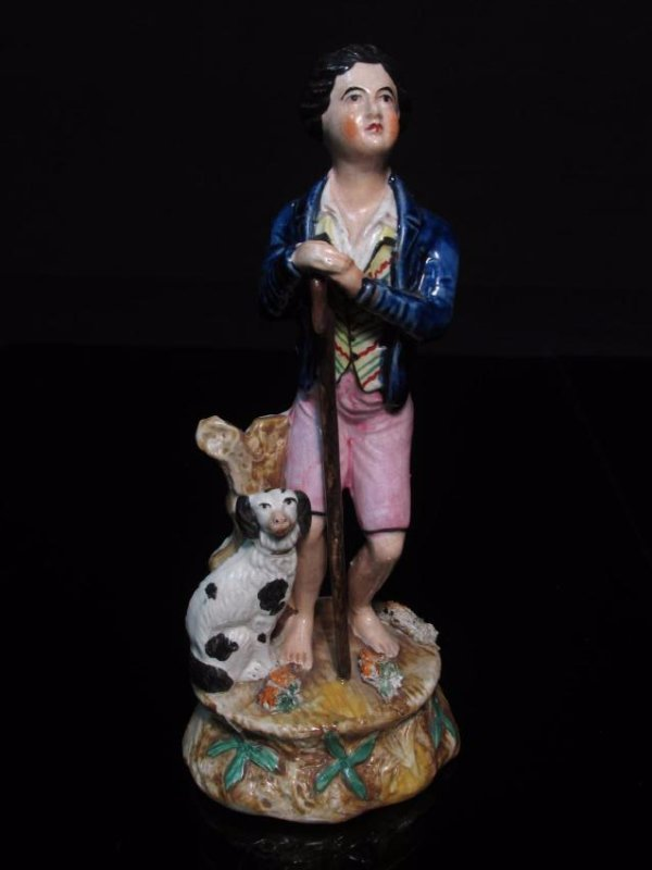 THREE STAFFORDSHIRE PORCEALIN FIGURINES - 6