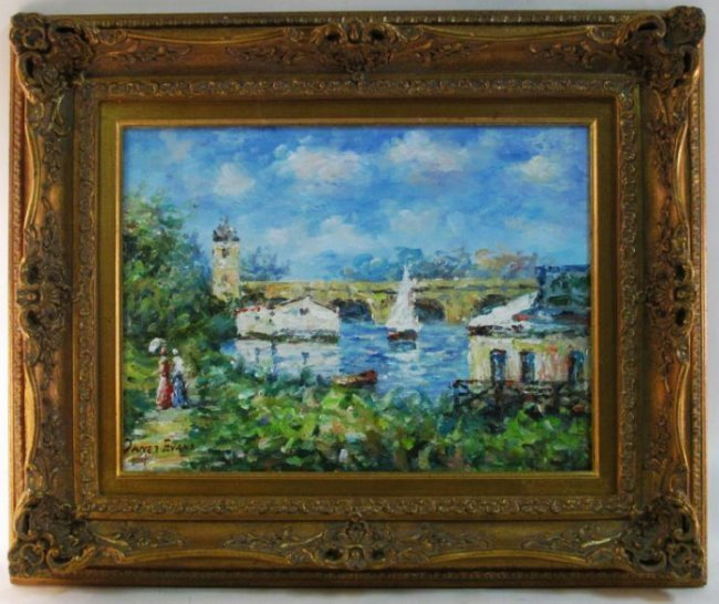 SMALL FRAMED OIL ON CANVAS PAINTING